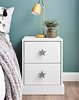 Stars 2 Drawer Bedside Table
