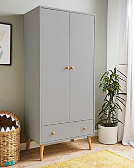 Olsen 2 Door 1 Drawer Wardrobe