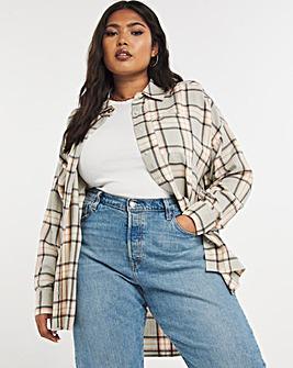 Oversized Boyfriend Checked Shirt