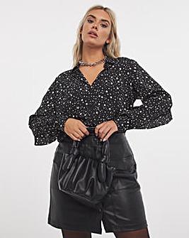 Mono Star Frill Back Shirt