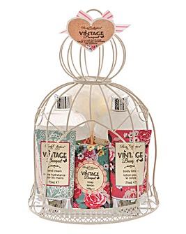 Vintage Bouqet Birdcage Gift set