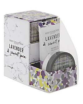 Lavender & Sweetpea Shower Gift Set
