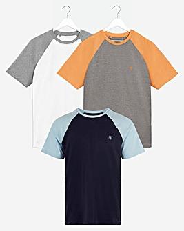 Pack of Three Raglan T-Shirts