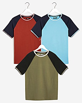 Pack of Three Raglan T-Shirts