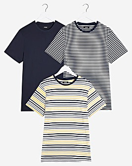 Pack of Three Stripe T-Shirts