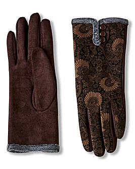 Joe Browns Printed Velvet Vintage Gloves