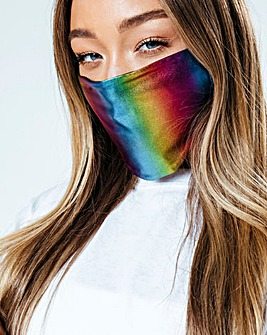 Hype Metallic Rainbow Face Covering