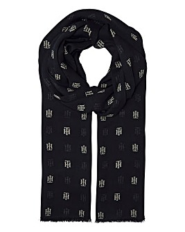 Tommy Hilfiger Monochrome Printed Scarf