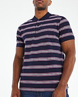 Pique Stripe Polo Long