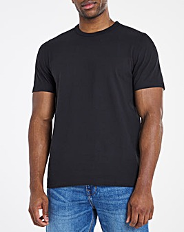 Heavyweight Black Bound Neck Tee Long
