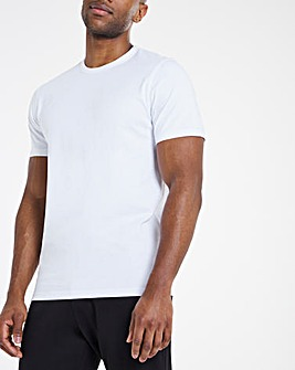 Heavyweight White Bound Neck Tee Long