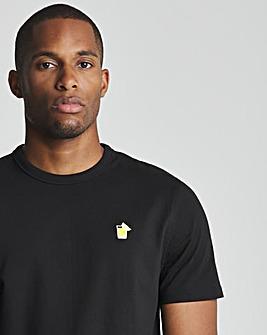Black Lemon Embroidered Tee R