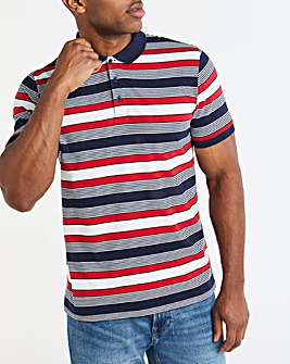 Single Jersey Stripe Polo Long