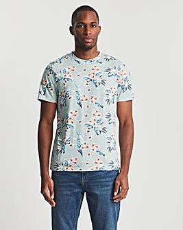 All Over Floral Print T-Shirt Reg
