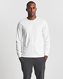Heavy Long Sleeve Bound Neck T-shirt L