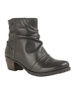 Lotus Fortune Ruched Ankle Boots