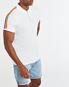 Pride Zip Neck Polo Long