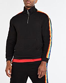 Pride 1/4 Zip Funnel Neck Sweatshirt L