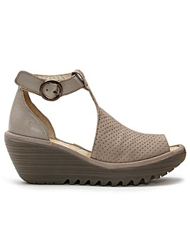 Fly London Yall Wedge T-Bar Sandals