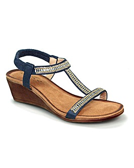 Lunar Tabitha Wedged 'T' Bar Sandal