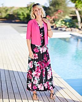 Jersey Maxi Dress With Shrug