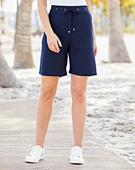 Julipa Navy Linen Shorts