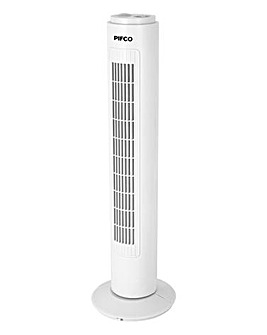 Pifco 29Inch Oscillating Tower Fan with