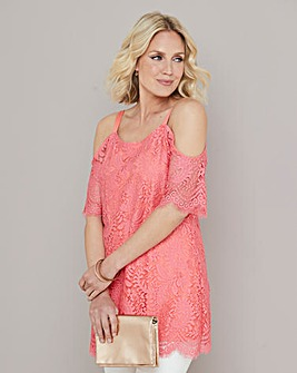 Julipa Lace Cold Shoulder Tunic