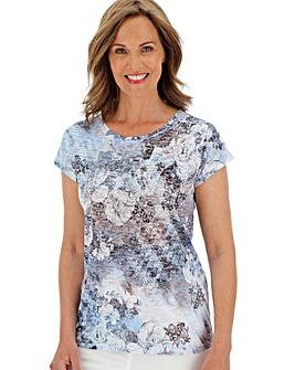 Julipa Blue Multi Burnout Stud Tshirt