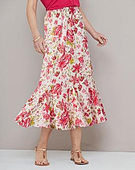 Voile Print Skirt