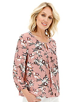 Julipa Pink Multi Pleat Front Blouse