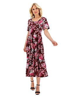 Julipa Printed Round Neck Jersey Dress
