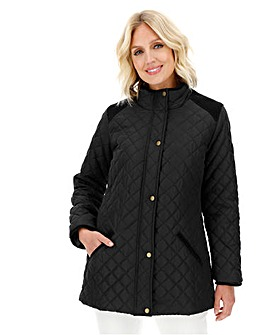 Julipa Black Padded Jacket with Corduroy Trim