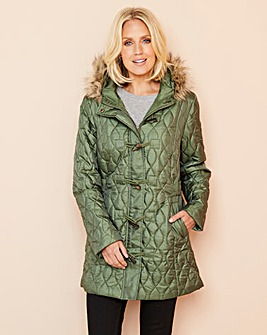 Julipa Toggle Parka With Faux Fur Trim