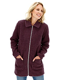 Zip Up Teddy Fleece with Pockets