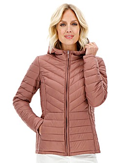 Pack- Away Padded Jacket with Hood