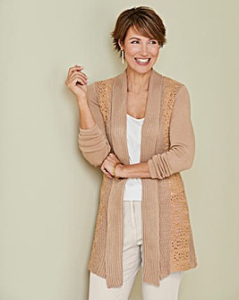 Crochet Back Cardigan