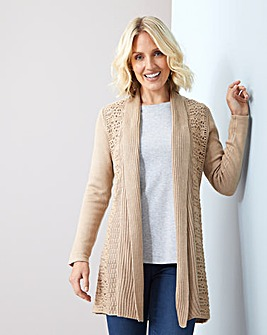 Julipa Crochet Back Cardigan