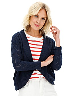 Navy Pointelle Shrug