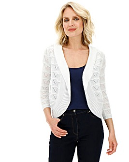 Julipa Ivory Pointelle Shrug