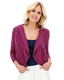 Julipa Magenta Pointelle Shrug