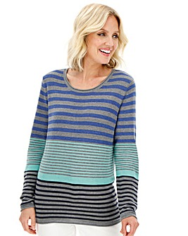 Julipa Mint Stripe Cotton Stripe Jumper
