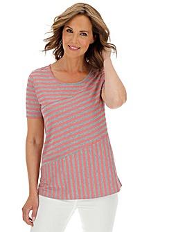 Julipa Pink/Grey Stripe Jersey Top