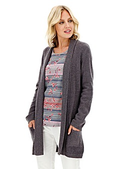 Julipa Steel Grey Boucle Cardigan
