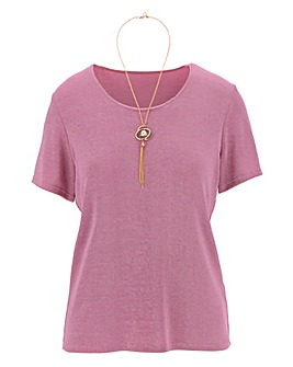 Slinky Tshirt With Necklace