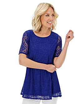 Julipa Blue Swing Lace Top