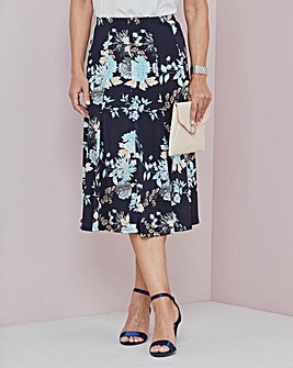 Duck Egg Panelled Jersey Skirt 32