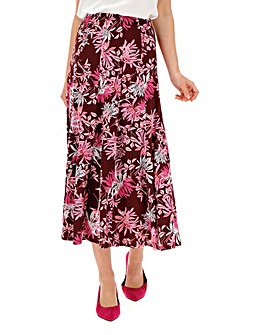 Heather Print Panelled Jersey Skirt 32