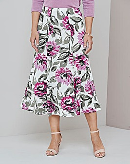 Julipa Heather Print Slinky Skirt 32''