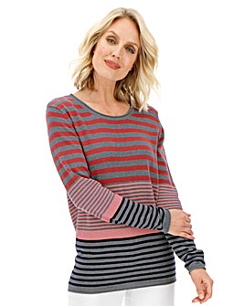 Julipa Coral Stripe Cotton Stripe Jumper